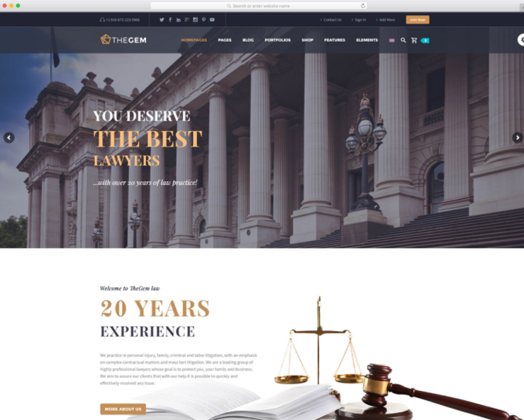 8 Exceptional Lawyer WordPress Themes