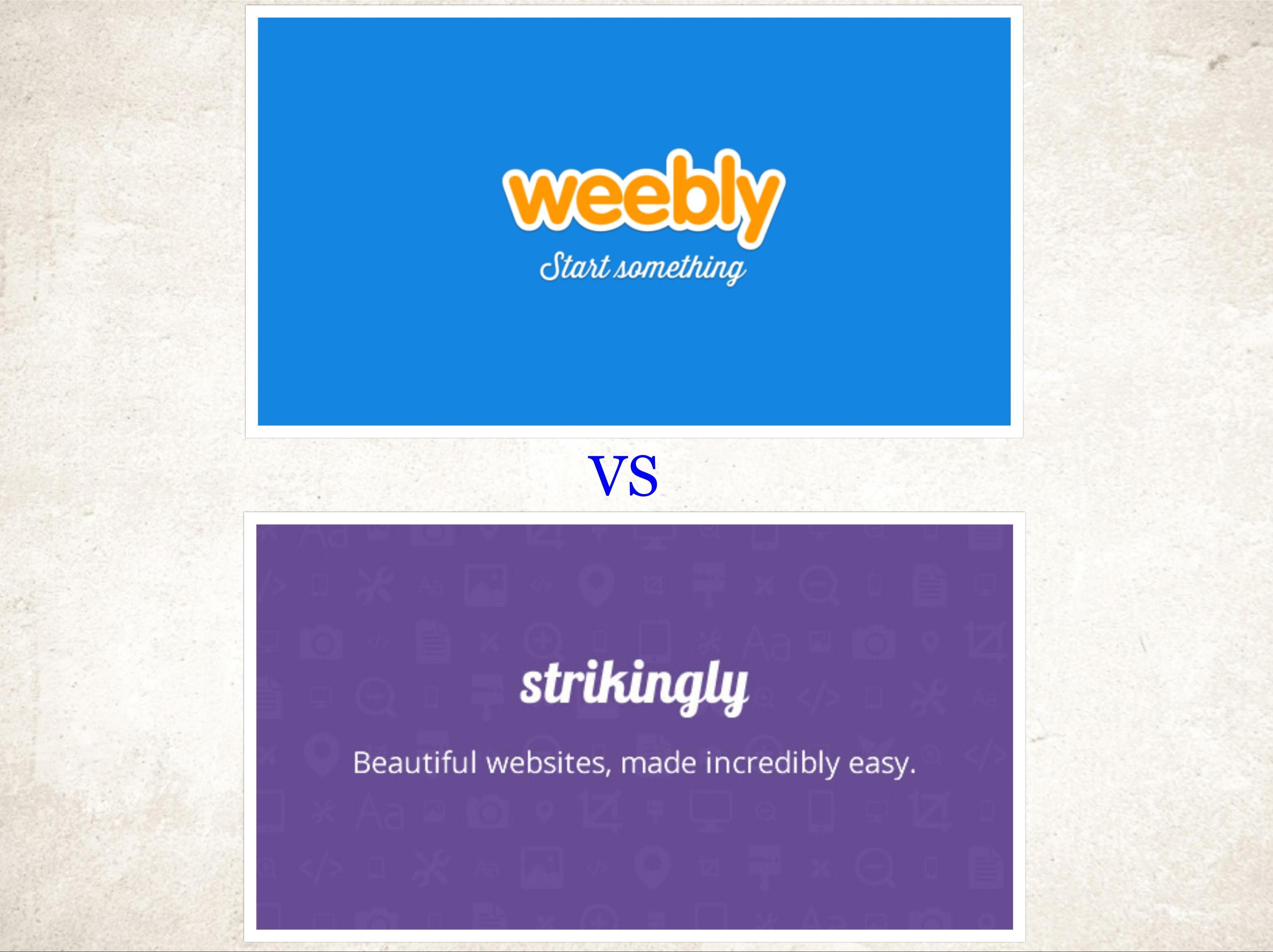 Weebly vs Strikingly