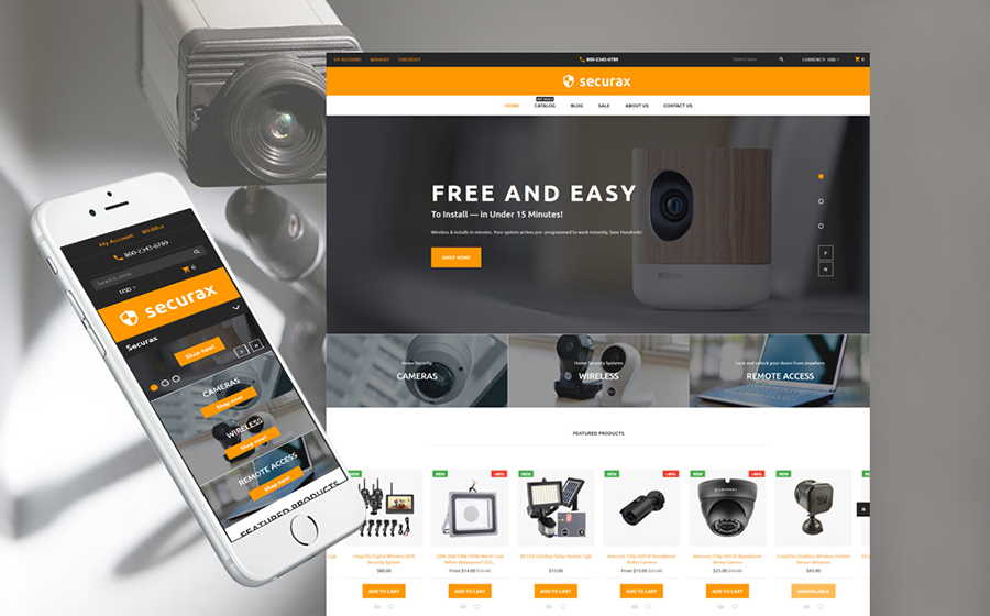 Best Shopify Themes - Securax