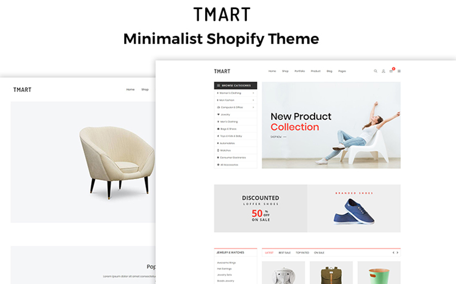 Best Shopify Themes - TMart