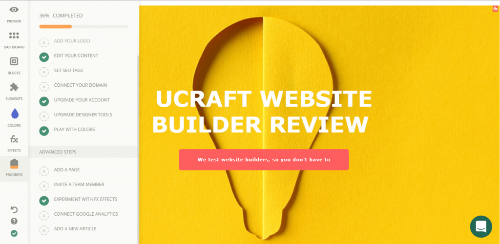 Ucraft Review - Editor