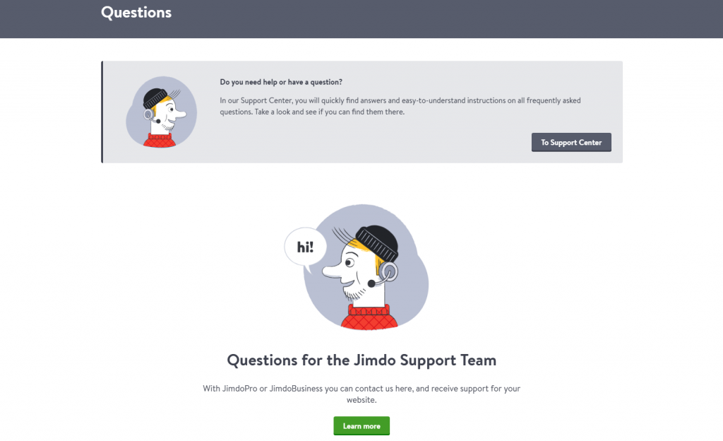 Jimdo Review - Customer Service