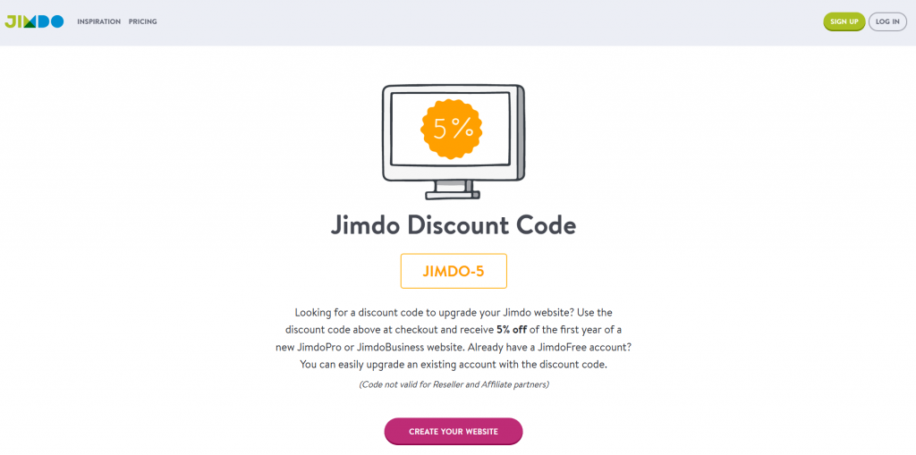 Jimdo Review - discount code