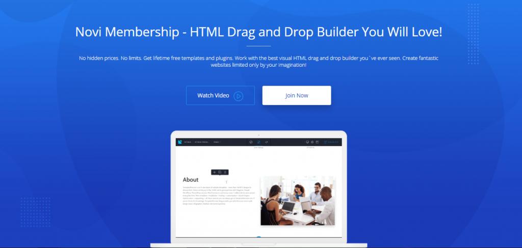 Novi Builder Review - Homepage